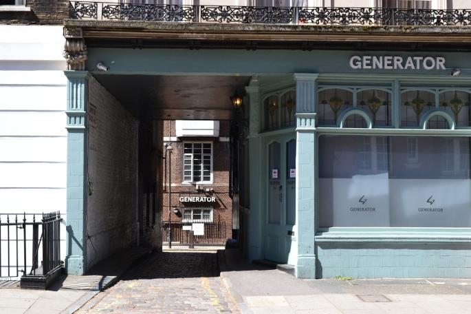 Generator, Tavistock Place, Bloomsbury